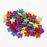 Beadia Assorted Color Acrylic Beads 11mm Star Shape Plastic Spacer Loose Beads(50g/approx 240pcs)