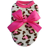 Cat / Dog Coat Red / Pink Winter / Spring/Fall Animal Leopard, Dog Clothes / Dog Clothing