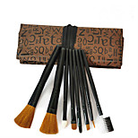 8pcs Makeup Brushes Set Animal Hair Professional / Full Coverage Metal Face Others