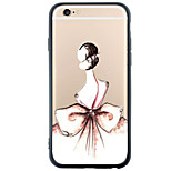 Bow Dress Back Cover Dustproof/Pattern Sexy Lady TPU and PC Soft Case Cover for iPhone 6s Plus/6 Plus/6s/6/SE/5s/5