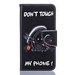 Death Pattern PU Leather Full Body Case with Stand and Card Slot for Nokia Lumia 650/550