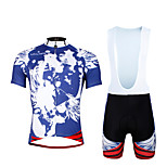 Cycling PaladinSport Men Shirt + Straps Shorts Suit BKT656 Blue Skeleton
