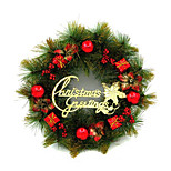 35Cm Christmas Wreath Christmas Decoration Red Christmas Gift