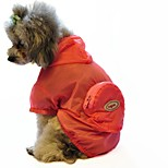 Katzen / Hunde Kostüme / Kapuzenshirts / Regenmantel Grün / Blau / Rosa Hundekleidung Winter / Sommer / Frühling/Herbst einfarbig
