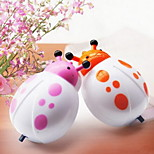 LED Nightlight Plugged Cartoon Ladybird Durable Bedside Lamp Night Light