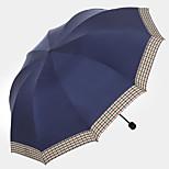 Business Edge Umbrella Lattice Creative Edge Three Folding Portable Folding Umbrella