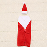 1pc Wine Bottle Bag Christmas Santa Claus Clothing Hat Dress Cover Table Dinner Decoration Party