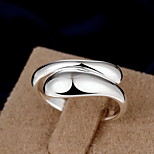Fine S925 Silver Drop Shape Band Ring Jewelry for Wedding Party
