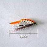 500 штук Рыболовная приманка Жесткая наживка Оранжевый г/Унция,30 мм/1