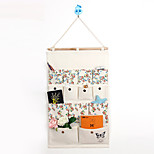 Thirteen Pockets Behind The Door Print Flower Storage Bag