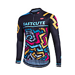 Esportivo Moto/Ciclismo Pulôver / Camisa/Fietsshirt / Blusas Mulheres / Homens / Crianças / Unissexo Manga CompridaRespirável / Secagem
