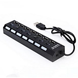 7 USB Ports Multi Ports USB2.0 Hub Independent Switch