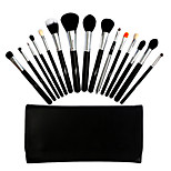 15 Makeup Brushes Set Goat Hair Portable Wood Face Others