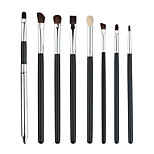 Pro 8Pcs Makeup Brushes Set Powder Blush Foundation Eyeshadow Eyeliner Lip Black Cosmetic Brush Kit Beauty Tools