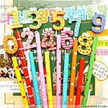 1041 Stationery Cute Cartoon Wooden Pencil Wooden Pencil Single 8G 0-9