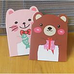 Bear Shaped Notepad With Ear Korea Stationery Cartoon Cute Little Book
