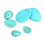 Beadia 20Pcs 12x16mm Water Drop Shape Synthetic Turquoise Stone Cabochons Beads