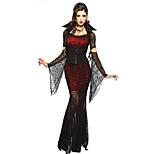 Costumes Vampires Halloween Red & Black Lace Spandex / Terylene Skirt / Sleeves / Belt / Necklace