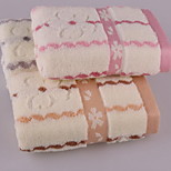 Water Lines Jacquard Plum Blossom Short Adult Supplies Towels