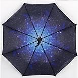 Star Black Color Folding Umbrella Vinyl Umbrellas Outdoor Umbrella Sunny Umbrellas Customized