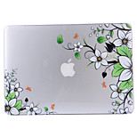 Diagonal Flower Patterned Transparent PVC Hard Shell for MacBook AIR11.6/13.3 Air/13.3 Retina/13.3 Pro