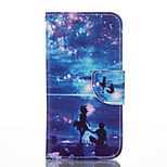 Blue Ocean Pattern PU Leather Material Leather Card for Iphone 5 5S SE 6 6S 6 Plus 6S Plus