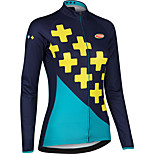 Sports Cycling Tops Women's Bike Breathable / Front Zipper/ 3D Pad / Ultra Light Fabric /