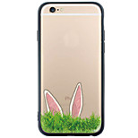 Rabbit Pattern Cartoon TPU+PC Soft Case Back Cover Transparent Cover For Apple iPhone 6s 6 Plus SE/5s/5