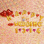 Arranged Marriage Room Decoration Balloon Wedding Supplies Alphanumeric Foil Heart-Shaped Christmas Gifts