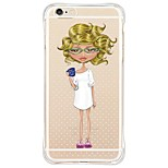 Sexy Lady Back Shockproof/Dustproof/Waterproof/Transparent TPU Soft Case For i6s Plus/6 Plus/6s/6/SE/5S/5
