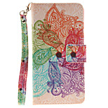 Painted Colorful Flowers Pattern Card Can Lanyard PU Phone Case For Sony Z2 Z3 Z3mini M4