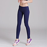 Yoga Pants Tights Breathable / Lightweight Materials Natural High Elasticity Sports Wear Blue Women's Sports Yoga