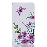 Pink Butterfly Pattern PU Leather Full Body Case with Stand and Card Slot for Nokia Lumia 650/550
