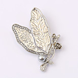European and American fashion zircon Pearl Brooch Series 026