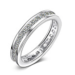 Simple 925 Sterling Silver Cubic Zircon Wedding Engagement Ring For Women Jewelry Fashion silver Gifts
