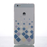 Back Cover Ultra-thin / Other Geometric Pattern TPU Soft Case Cover For Huawei Huawei P8 / Huawei P8 Lite