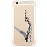 Shockproof/Pattern Sexy Lady TPU Soft Silicone Case Cover For Apple iPhone 6s Plus/6 Plus/iPhone 6s/6/iPhone 5/5s/SE