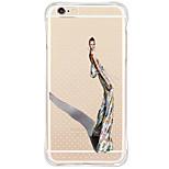 Für iPhone 6 Hülle / iPhone 6 Plus Hülle Stoßresistent / Staubdicht / Muster Hülle Rückseitenabdeckung Hülle Sexy Lady Weich TPU Apple