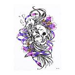 1pc Beauty Women Men Temporary Tattoo Skull Flower Belle Picture Design Waterproof Body Art Tattoo Sticker HB-356