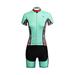PaladinSport Women  Cycyling Jersey + Shorts Suit DT650 The Mint Color