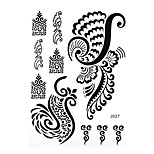 1pc Black Waterproof Tattoo Flower Wing Woman Finger Body Art Temporary Tattoo Sticker BJ027