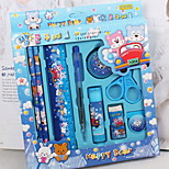 Children'S Pencil Box Stationery Package Gift Boxes Of School Supplies Nine Sets Of Two Color Options