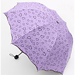 Love Heart Vinyl Umbrella Korean Creative Uv Princess Umbrella Folding Umbrella Sunny Fresh