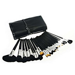 32pcs Makeup Brushes Set Goat Hair Portable Wood Face Others