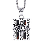 2016 Kalen New Punk 316L Stainless Steel Personalised Skull Necklace Men's Accessories Gift
