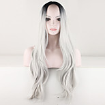 Women Sexy Ombre Wig Black Gray Wig Curly Costume Brazilian Malaysian Synthetic Hair Wigs Ladies Fashion Wig