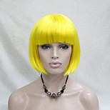 High-quality Synthetic Hair Yellow Anime Cosplay Costume Short BOB Wig