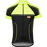 Sports Bike/Cycling Tops Men's Short SleeveBreathable / Quick Dry / Front Zipper / Seamless / Reduces Chafing /
