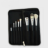 8Pcs Makeup Brush Zipper Bag Makeup Brush Set Natural Animal Hair