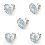 5pcs 6W E27 60led SMD Plant Grow Light 20Blue 40Red Full Spectrum Plant Bulb for Flower Vegetable(AC220-240V)